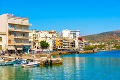 Agios Nikolaos Crete Greece Waterfront Royalty Free Stock Photo