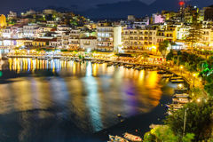 Agios Nikolaos on Crete island Royalty Free Stock Photography