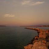 Agios Nikolaos Crete port Obrazy Stock