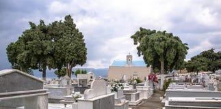 Agios Nikolaos Crete stary cmentarz morzem egejskim Obrazy Royalty Free