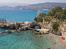 Agios Nikolaos-Crete welcomes you in a modern Royalty Free Stock Photo