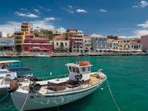 Agios Nikolaos en Creta, Grecia Foto de archivo libre de regalías