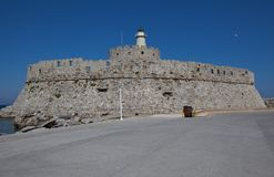 Agios nikolaos fort Stock Photo