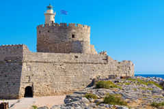 Agios Nikolaos fortress. Rhodes, Greece Stock Photography