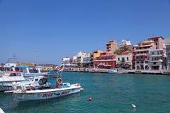 Agios Nikolaos, Grecja Obrazy Stock