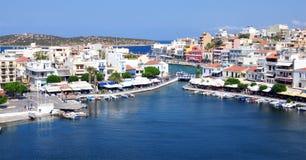 Agios Nikolaos, Grecja, Europa Zdjęcie Stock