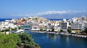 Agios Nikolaos, Grecja, Europa Fotografia Stock