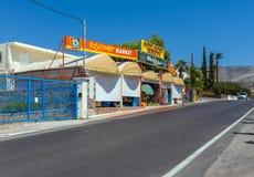AGIOS NIKOLAOS GRECJA, LIPIEC, - 29, 2012: Turyści iść w litt Zdjęcie Stock
