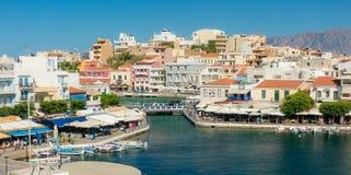 AGIOS NIKOLAOS, GREECE - JULY 20, 2014: Agios Nikolaos Royalty Free Stock Image