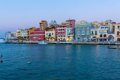 AGIOS NIKOLAOS, GREECE - JULY 28, 2012: Tourists walking in city Stock Photography