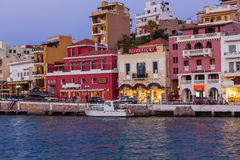 AGIOS NIKOLAOS, GREECE - JULY 28, 2012: Tourists walking in city Stock Image