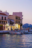 AGIOS NIKOLAOS, GREECE - JULY 28, 2012: Tourists walking in city Royalty Free Stock Photo