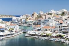 Agios Nikolaos Grodzki centrum Zdjęcie Royalty Free