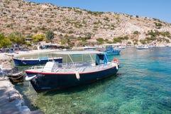 Agios Nikolaos-Hafen auf Zakynthos Stockfotos