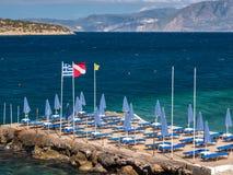 Agios Nikolaos Holiday Seaside Resort na Creta, Grécia foto de stock
