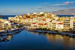Agios Nikolaos, Jeziorny Vouliagmeni, Crete, Grecja Zdjęcie Stock