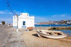 Agios Nikolaos kościół, Mykonos Zdjęcia Royalty Free