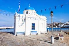 Agios Nikolaos kościół, Mykonos Zdjęcie Royalty Free