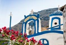 Agios Nikolaos kościół w Therasia, Santorin Zdjęcie Royalty Free