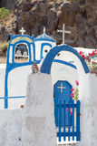 Agios Nikolaos kościół w Therasia, Santorini Obrazy Stock