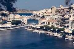 Agios Nikolaos, Kreta Griekenland stock fotografie