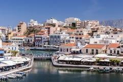 Agios Nikolaos laguny wejście Zdjęcia Royalty Free
