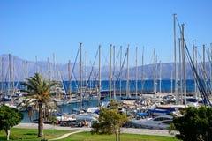 Agios Nikolaos marina, Crete Fotografia Royalty Free