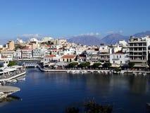 Agios Nikolaos Marina, Crete, Grecja Fotografia Royalty Free