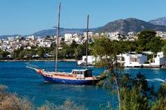 Agios Nikolaos miasto, Crete, Grecja Zdjęcie Stock