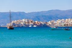 Agios Nikolaos miasto, Crete, Grecja Obraz Stock