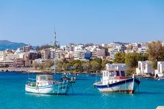 Agios Nikolaos miasto, Crete, Grecja Obraz Royalty Free