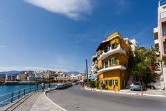 Agios Nikolaos miasto, Grecja Obrazy Royalty Free