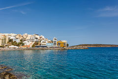 Agios Nikolaos miasto, Grecja Zdjęcia Royalty Free