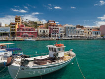 Agios Nikolaos na Creta, Grécia Foto de Stock Royalty Free