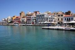 Agios Nikolaos na Crete wyspie, Grecja Obrazy Royalty Free