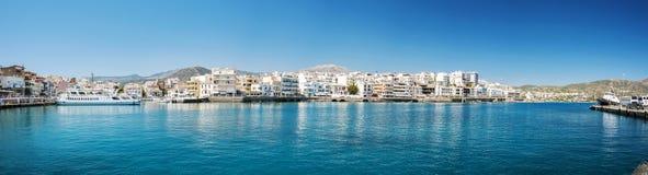 Agios Nikolaos panorama Zdjęcia Stock