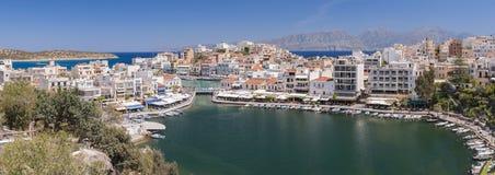 Agios Nikolaos Panorama Stock Photo