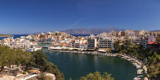 Agios Nikolaos panorama Stock Images