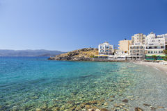 Agios Nikolaos plaża Fotografia Royalty Free