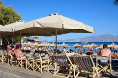 Agios Nikolaos plaża, Crete Obrazy Royalty Free