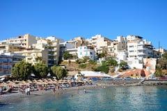 Agios Nikolaos plaża, Crete Fotografia Royalty Free