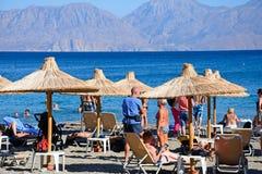 Agios Nikolaos plaża, Crete Obraz Stock