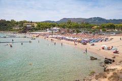 Agios Nikolaos plaża, Grecka wyspa zante Obraz Royalty Free