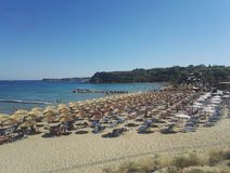 Agios Nikolaos plaża, Zakynthos, Grecja Obrazy Stock