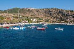 Agios Nikolaos port na Zakynthos Zdjęcie Royalty Free