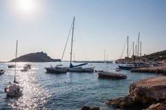 Agios Nikolaos port na Zakynthos przy wschodem słońca Zdjęcie Royalty Free