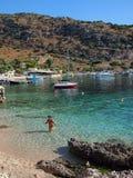 Agios Nikolaos port, Zakynthos Zdjęcia Royalty Free