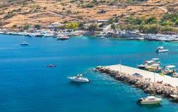 Agios Nikolaos port Zakynthos wyspa Zdjęcie Stock