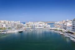 Agios Nikolaos przegląd Zdjęcie Royalty Free