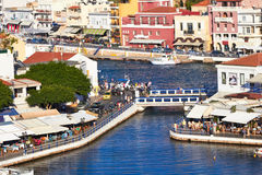 Agios Nikolaos quay Obraz Royalty Free
